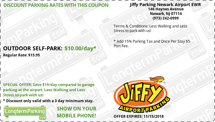Free Coupons Free Reservations Jiffy Parking Newark Airport Ewr