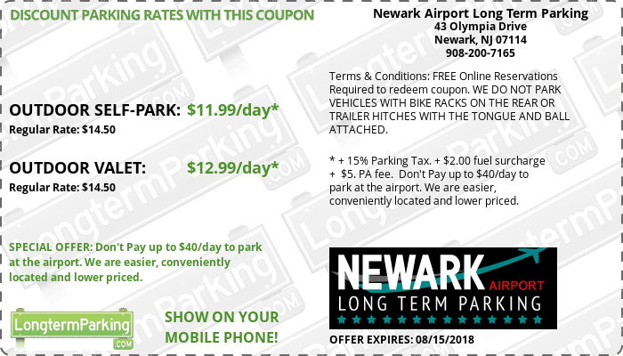 Newark Airport Long Term Parking Newark Liberty Airport EWR Airport Parking  Coupon from LongtermParking.com