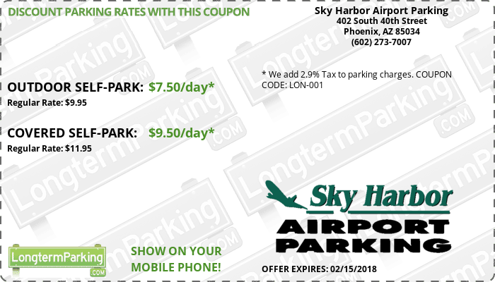 sky harbor airport parking phoenix sky harbor airport phx airport parking coupon from longtermparking com