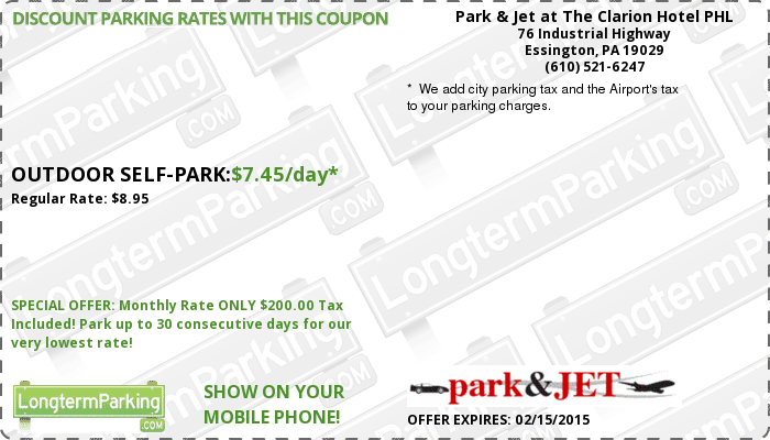 Philadelphia airport parking coupon code