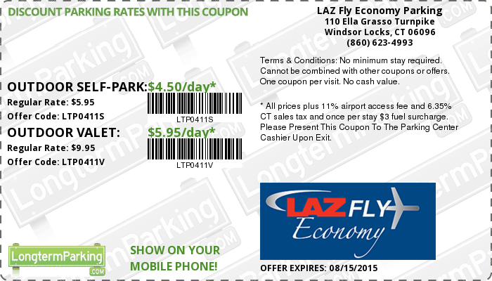Parking discount coupons