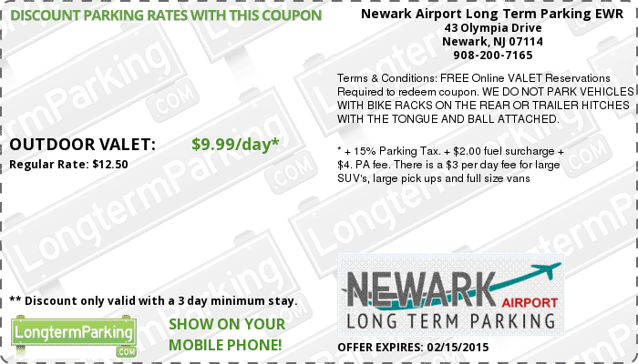 dia long term parking coupons