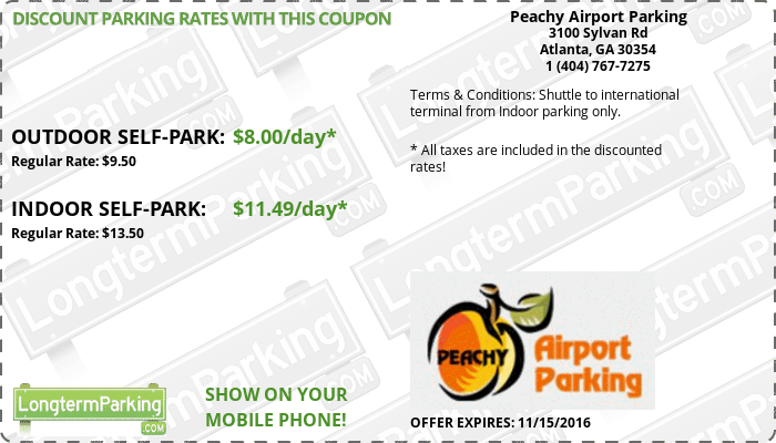 Peachy airport parking coupon code