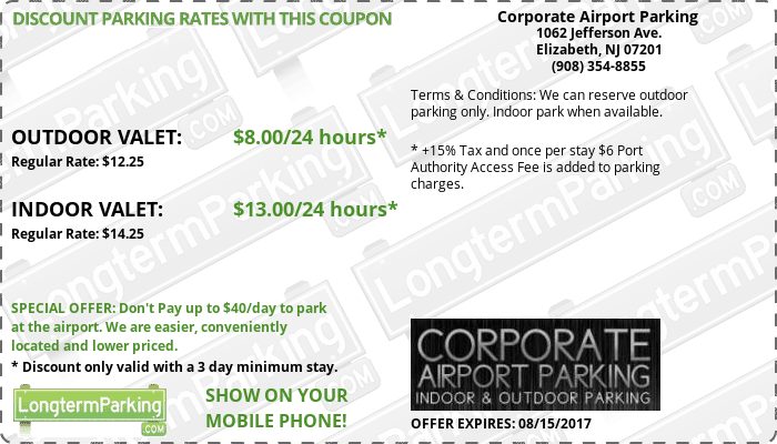 Corporate airport parking ewr coupons