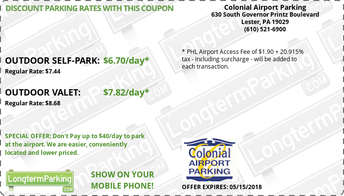 Philly airport parking coupons