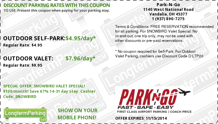 Park and go coupon code