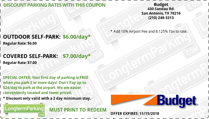 Free Coupons Free Reservations Budget Longtermparking Com
