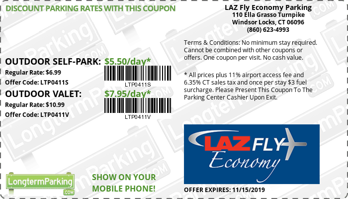 Laz Fly Economy Parking Hartford Bradley Airport Bdl Coupon From Longtermparking