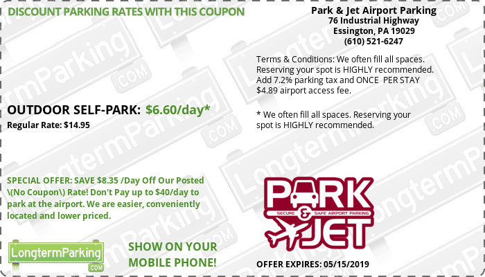 Park & Jet Airport Parking   Airport Parking Coupon from LongtermParking.com