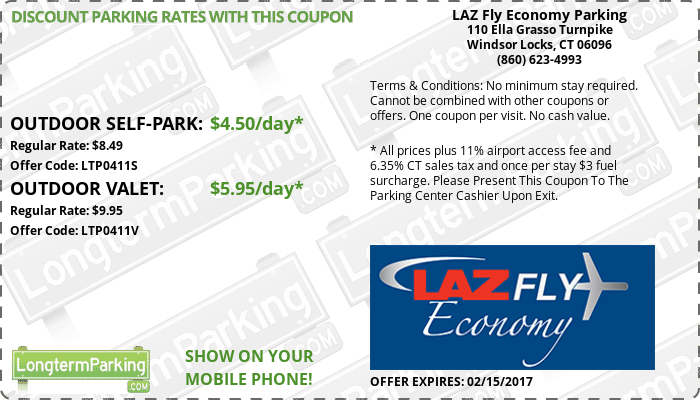 105 airport parking discount coupon