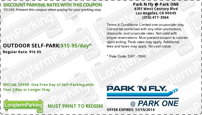 park n fly printable coupons park n fly park one airport parking and free 23899 | f261705fcad4164